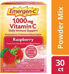 Emergen-C Count, Raspberry Flavor, 2 Month Supply) Dietary Supplement Fizzy Drink Mix with Vitamin C, Ounce Packets, Caffeine Free Vitamin A, Vitamin C Drinks, Elderberry Gummies, Vitamin C Powder, Vitamin C Supplement, Natural Vitamins, Natural Flavors, Mixed Drinks, Vitamins And Minerals