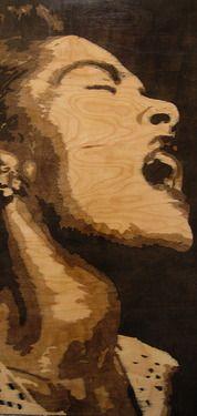 "Saatchi+Online+Artist+Justin Herber;+Painting,+""Billie Holiday""+#art"