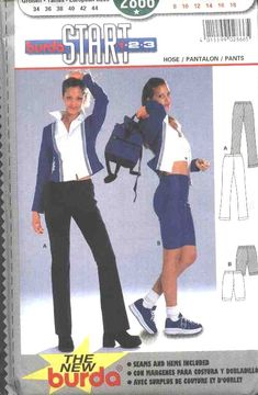 Burda Sewing Pattern 2866 Misses Size 8-18 Work-out Stretch Pants Shorts -- Need a different size or pattern? Check out our store www.MoonwishesSewingandCrafts.com for 8000+ uncut sewing patterns all sizes and styles!