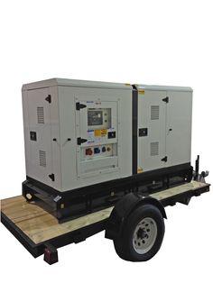 55 KW Perkins Generator on trailer