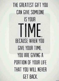 Time is priceless.