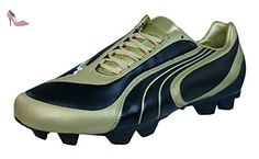 Puma evoSTREET 1 F6 - Chaussure de Football - Mixte Adulte - Rouge (Red/WHT/Blk) - 44.5 EU (10 UK) 8aqZQs7R4