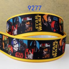 """Free shipping 50 yards 7/8"""" 22mm Star Wars ribbons printed grosgrain ribbon 9277-in Ribbons from Home & Garden on Aliexpress.com 