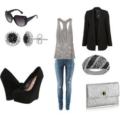 perfect outfit for a night out / clothes / moda / night look    Love this!