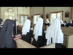 "The Benedictines of Mary, Gower, Missouri ~ Their music is ethereal, pure, a cappella. Extraordinary for Catholics! ~ Clip from documentary from making of ""Angels and Saints at Ephesus"" cd, via YouTube."