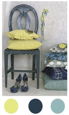 blue and chartreuse room - Google Search