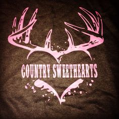 Country Sweethearts heart antler tee by CountrySweethearts on Etsy, $15.00