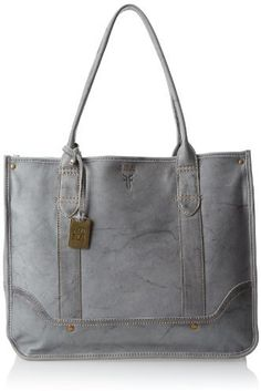 $397, Grey Leather Tote Bag: Campus Shopper Tote Handbag by Frye. Sold by Amazon.com. Click for more info: http://lookastic.com/women/shop_items/117045/redirect
