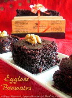 Eggless Cocoa Walnut Brownies....and my 200th Post!!