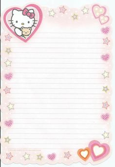 Free Printable Stationery, Printable Scrapbook Paper, Printable Paper, Cute Writing, Writing Paper, Cute Notes, Good Notes, Collage Mural, Cute Letters