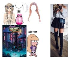 """For any Gravity Falls RP's I do!"" by crystalcat-pixel ❤ liked on Polyvore featuring cutekawaii, Pacifica, Victoria's Secret, Linni Lavrova and Carolina Glamour Collection"