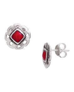 Lady in Red Earrings, Earrings - Silpada Designs