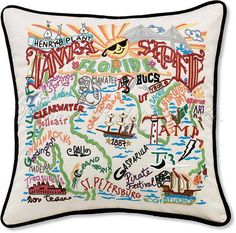 I would love this tacky pillow for my birthday! ;) Tampa pillow