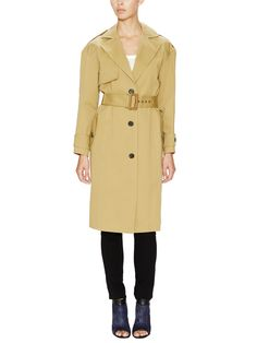 Cotton Cavalry Belted Trench Coat