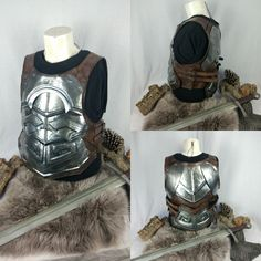 Soon in my etsy shop. Larp Armor, Nerd Stuff, Character Art, Barbie, Military, Etsy Shop, Fantasy, Steel, Shopping