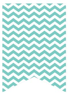 teal chevron Chevron Letter, Teal Chevron, Printable Banner Letters, Banner Template, Turquoise Baby Showers, Teal Party, Disney Planner, Birthday Tags, Paper Banners