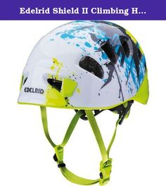 Edelrid Shield II Climbing Helmet - Men's Snow-Oasis, 2 (52 - 62cm). Edelrid made its Men's Shield II Climbing Helmet lightweight and robust so you don't have a reason to leave it behind when you tackle long, demanding routes. Its In-Mold construction consists of a tough polycarbonate shell and an expanded polystyrene foam that you can remove if you need more room. The Wing-Fit adjustable system includes a fully adjustable chin strap and a rear dial that brings in a comfortable fit…