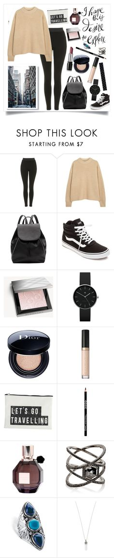 """""""Urban Revival: Reykjavik Travel"""" by polyboho ❤ liked on Polyvore featuring Topshop, The Row, Witchery, Vans, Burberry, Mary Kay, Newgate, Christian Dior, Too Faced Cosmetics and House Doctor"""