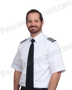 """/""""The Pilot/"""" Tall Pilot Shirt by Van Heusen Men/'s Short Sleeve Uniform Shirt"""