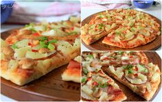 Ham & Pear & Pineapple & Cashews Pizza