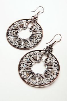 Big Summer Wheels ethnic influence hoop earrings by TemporalFocus, €70.00