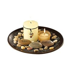 Traditional Décor Collection Sentiments Candle Garden