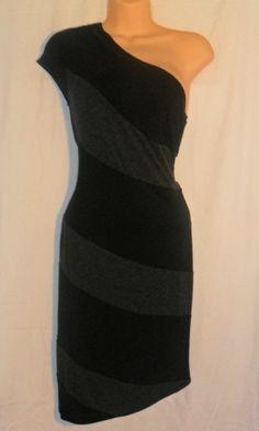 Women's Black / Gray Sexy Dress