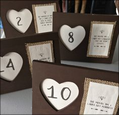 Clever Unique Table Numbers Idea Make It Personal Burlap Table Numbers Wedding Table Numbers
