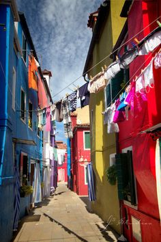 Burano is beautiful with all the multi-colored houses!