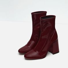 Image 5 of HIGH HEEL SOCK STYLE ANKLE BOOTS from Zara