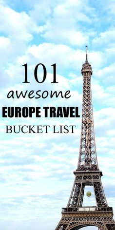 INSTEAD OF A TRIED IT BUTTON!101 Europe Travel Bucket List.  Travel Guide in Europe.  Travel Tips in Europe.  Travel inspiration.  Places to go in Europe.