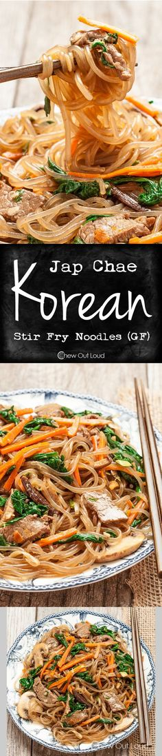 Jap Chae (Korean Stir Fry Noodles - GF