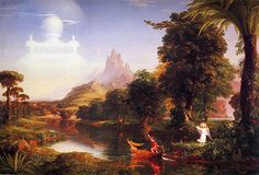 Born on this day Thomas Cole - The Voyage of Life - Youth..