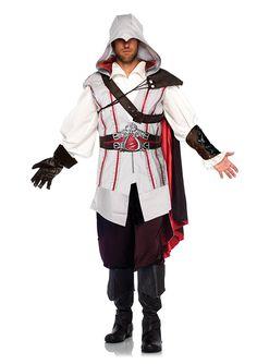 Amazon.com: Leg Avenue Men's Assassin's Creed 8 Piece Ezio Deluxe Deluxe Costume Cosplay, Grey, XX-Small: Clothing