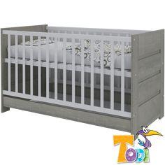Ez a babaágy később juniorággyá alakítható, így a gyermek tovább tudja használni, nem kell neki pár év után új ágyat vásárolni. Cribs, Bunny, Bed, Furniture, Home Decor, Products, Cots, Cute Bunny, Decoration Home
