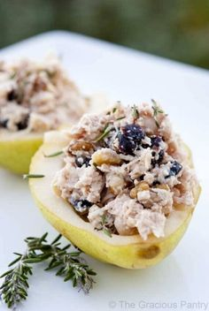 Clean Eating Chicken Stuffed Pears