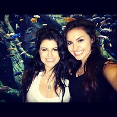 Bria and Chrissy with some fishies