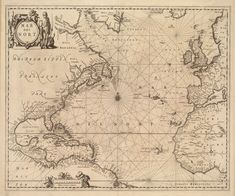 1650 Nautical Chart of the Atlantic Ocean von AtomicPhoto auf Etsy