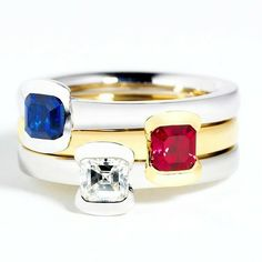 Andrew Geoghegan Cherish rings - Diamond, Sapphire & Ruby Engagement Rings Uk, Designer Engagement Rings, Jewelry Accessories, Jewelry Design, Contemporary Engagement Rings, July Diamond, Diamond Rings, Garnet, Jewelery