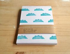 Notepad Set Hand Printed Notepads Recycled Eco Friendly Mini Notebooks Turquoise on Etsy, 10,50€