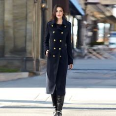 JESSICA®/MD Women's Military Style Long Coat - Sears | Sears Canada Military Style, Military Fashion, Canada Shopping, I Love Winter, Online Furniture, Coat, Jackets, Stuff To Buy, Down Jackets