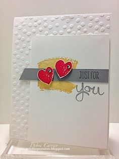 ARTfelt Impressions: Work of Art & Decorative Dots embossing folder. Love the subtle use of color.