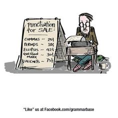 Punctuation for sale...