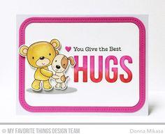 card critters bear dog scripty HUGS MFT Furever Friends Die-namics #mftstamps