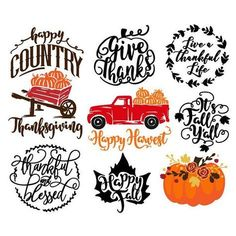 Fall bundle svg cut file files Thanksgiving Fall Silhouette Cameo Projects, Silhouette Design, Silhouette Files, Silhouette Vinyl, Cricut Creations, Svg Files For Cricut, Vinyl Designs, Shirt Designs, Fall Designs