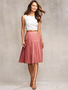 Talbots Rose Quartz Crystal Pleat Voile Skirt. ~~  I have a few of these skirts up for sale on my EBay site ~~ victor-and-mia