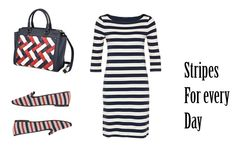 striped dress collage