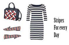 striped dress collage