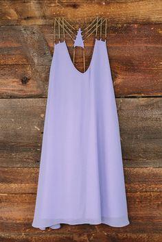 Antique Chains Dress, Lilac