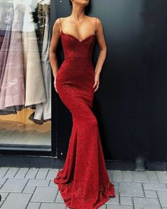 Prom Dress For Teens, collectionsall?best=Spaghetti Straps Sexy Red Sequin Prom Dress Mermaid , cheap prom dresses, beautiful dresses for prom. Best prom gowns online to make you the spotlight for special occasions. Evening Dress Long, Mermaid Evening Dresses, Evening Party, Simple Evening Gown, Red Evening Gowns, Pretty Dresses, Sexy Dresses, Beautiful Dresses, Long Dresses